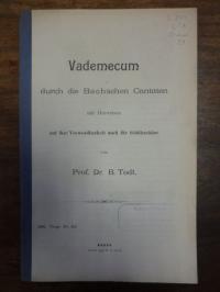 Todt, Vademecum durch die Bachschen Cantaten mit Hinweisen auf ihre Verwendbarke
