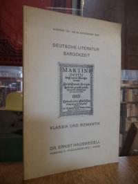 Auktionskatalog / Dr. Ernst Hauswedell, Auktion 153 : Deutsche Literatur Barockz