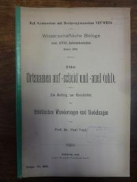 Vogt, Die Ortsnamen auf -scheid und -auel (ohl) – Ein Beitrag zur Geschichte der