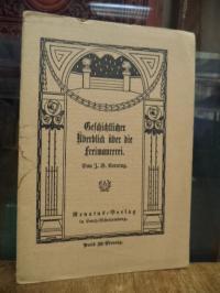 Kerning, Geschichtlicher Überblick über die Freimaurerei,