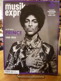 ohne Autor, Musik Express Juni 2016 – auf 32 Seiten: Prince,