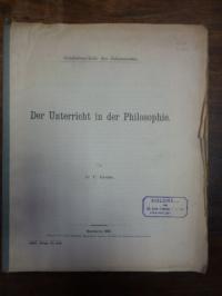 Grube, Der Unterricht in der Philosophie,