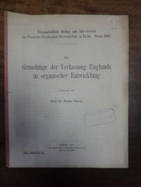 Parow, Die Grundzüge der Verfassung Englands in organischer Entwicklung,