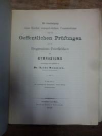 Mommsen, Tycho Teil 1: Zur Geschichte des Gymnasiums.