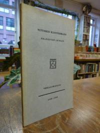Vittorio Klostermann, Vittorio Klostermann – Verlagskatalog 1930-1960,