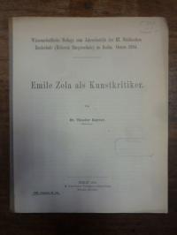 Engwer, Emil Zola als Kunstkritiker,