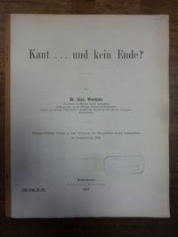 Wernicke, Kant … und kein Ende?,
