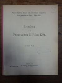 Wolff, Preussen und die Protestanten in Polen 1724,