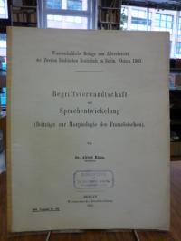 Bergmann, Begriffsverwandschaft Sprachentwicklung (Beiträge zur Morphologie des