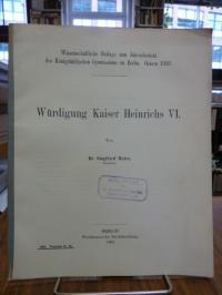Maire, Würdigung Kaiser Heinrichs VI.,