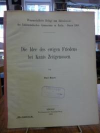 Meyer, Die Idee des ewigen Friedens bei Kants Zeitgenossen,