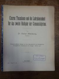 Altenburg, Ciceros Tusculanen und die Lehrplaneinheit für das zweite Halbjahr de