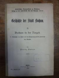 Darpe, Geschichte der Stadt Bochum, Teil 2., Bochum in der Neuzeit. C. Geschicht