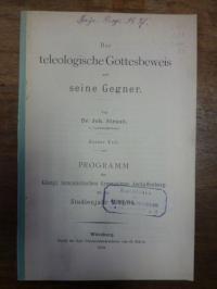 Straub, Der teleologische [theologische] Gottesbeweis und seine Gegner – erster