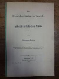 Reich, Die ältesten berufsmässigen Darsteller des griechischen Mimus,