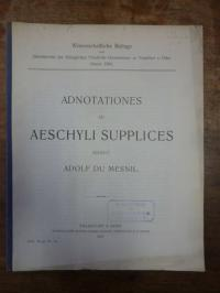 Mesnil, Adnotationes ad Aeschyli Supplices,