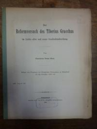 Krah, Der Reformversuch des Tiberius Gracchus im Lichte alter und neuer Geschich