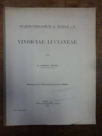 Sorof, Vindiciae Lucianeae,