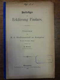 Meinel, Beiträge zur Erklärung Pindars,
