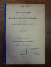 Flierle, Über Nachahmungen des Demosthenes, Thucydides und Xenophon in den Reden