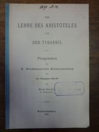 Oertel, Die Lehre des Aristoteles von der Tyrannis,