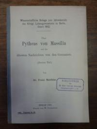 Matthias, Über Pitheas von Massilia und die ältesten Nachrichten von Germanien (