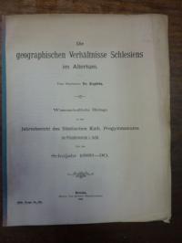 Kopietz, Die geographischen Verhältnisse in Schlesien im Altertum,