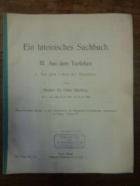 Altenburg, Ein lateinisches Sachbuch – III. Aus dem Tierleben – 1. Aus dem Leben