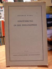 Nohl, Einführung in die Philosophie,