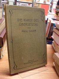 Cauer, Die Kunst des Übersetzens – Ein Hilfsbuch für den lateinischen und griech