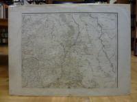 Belgien / Ost-Brabant grenzkolorierte Landkarte Ost-Brabant und Nordsee wohl aus