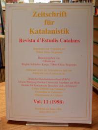 Schlieben-Lange, Zeitschrift für Katalanistik / Revista dEstudis Catalans Vol. 1