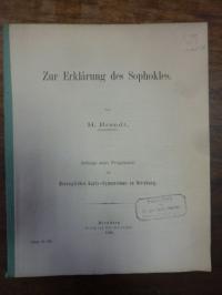 Brandt, Zur Erklärung des Sophokles,