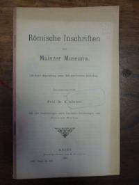 Körber, Römische Inschriften des Mainzer Museums – Dritter Nachtrag zum Becker's