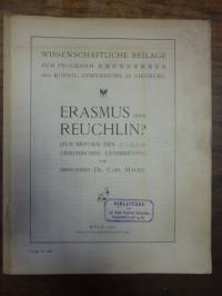Macke, Erasmus oder Reuchlin? (Zur Reform des Griechischen Unterrichts)