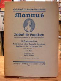 Kossinna, Mannus: Zeitschrift für Deutsche Vorgeschichte – VII. Ergänzungsband