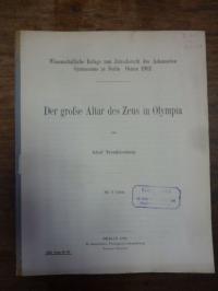 Trendelenburg, Der grosse Altar des Zeus in Olympia,