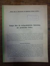 Wesmöller, Einiges über die weltgeschichtliche Bedeutung des griechischen Volkes