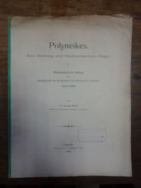 Wolff, Polyneikes – Ein Beitrag zur thebanischen Sage,