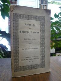 Coburg, Beiträge zu Coburgs Annalen auf das Jahr 1832 – Zum Besten der Sonntagss