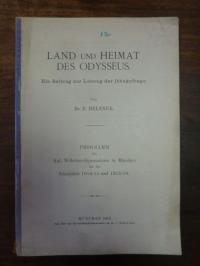 Belzner, Land und Heimat des Odysseus – Ein Beitrag zur Lösung der Ithakafrage,