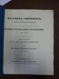 Voemelius, Teil 1: Notitia Codicum Demosthenicorum III, Teil 2: Odyssee VII (übe