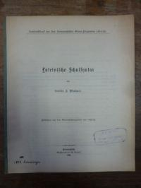 Plattner, Lateinische Schulsyntax