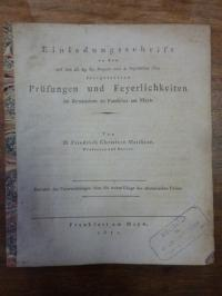 Matthiae, Revision der Untersuchungen über die wahre Länge des altrömischen Fus