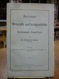 Bothe, Beiträge zur Wirtschafts- und Sozialgeschichte der Reichsstadt Frankfurt