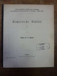 Gemoll, Homerische Blätter II,