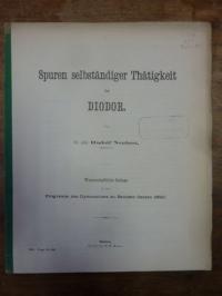 Neubert, Spuren selbstständiger Thätigkeit bei Diodor,