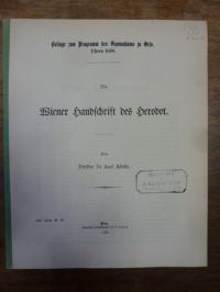 Abicht, Die Wiener Handschrift des Herodot,