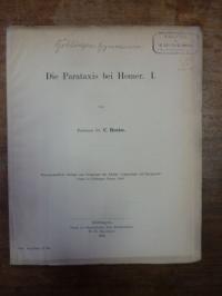 Hentze, Die Parataxis bei Homer – I.,