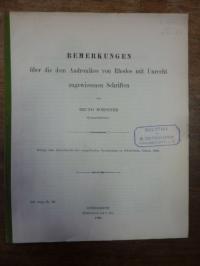 Roesener – Bemerkungen über die dem Andronikos